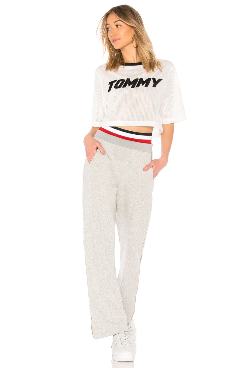 Tommy x Gigi Racing SS Top $80 and Zip Track Pant $149