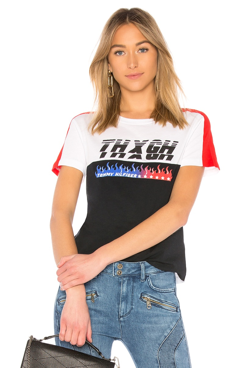 Tommy x Gigi Speed SS T Shirt $60