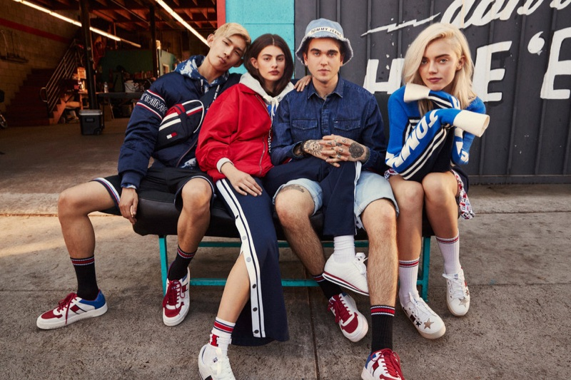 An image from Tommy Jeans spring 2018 advertising campaign