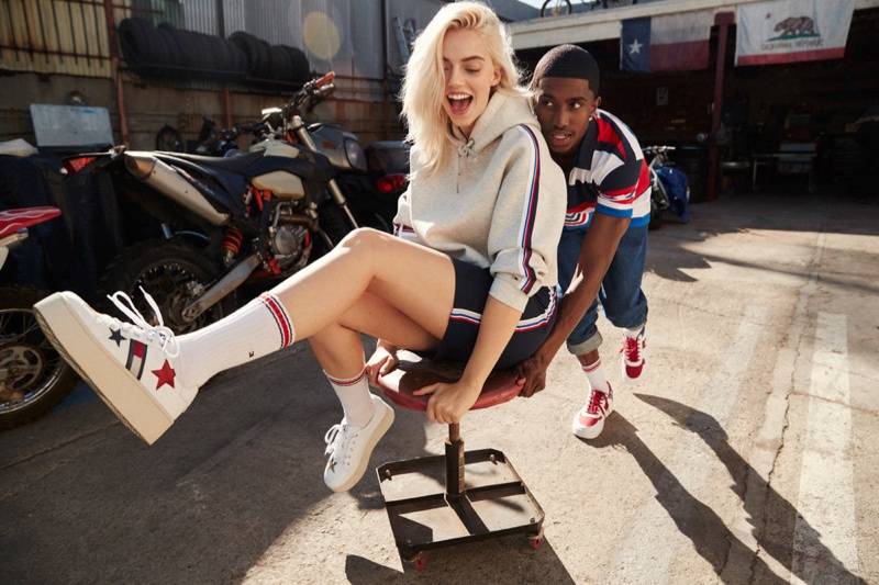 Pyper America Smith and Christian King Combs star in Tommy Jeans spring-summer 2018 campaign