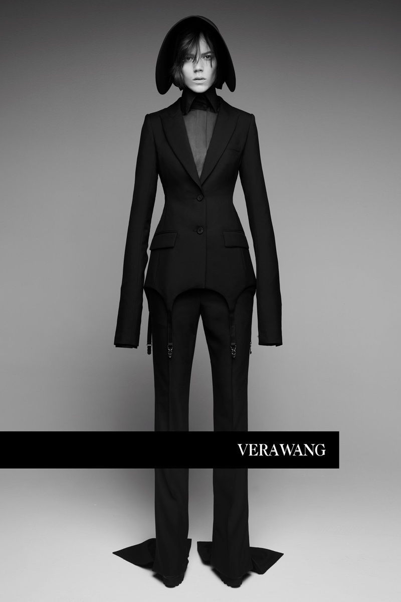 Model Freja Beha Erichsen suits up in Vera Wang's spring-summer 2018 campaign