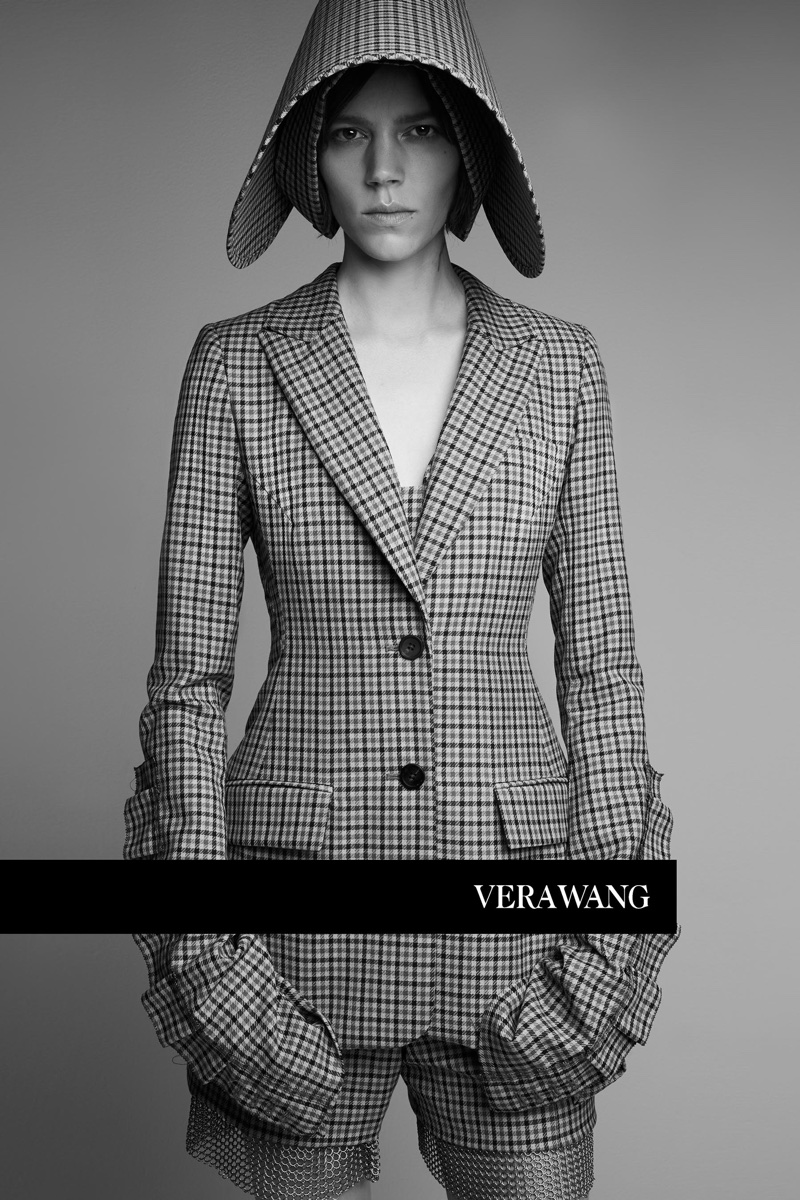 Vera Wang embraces plaid prints in spring-summer 2018 campaign