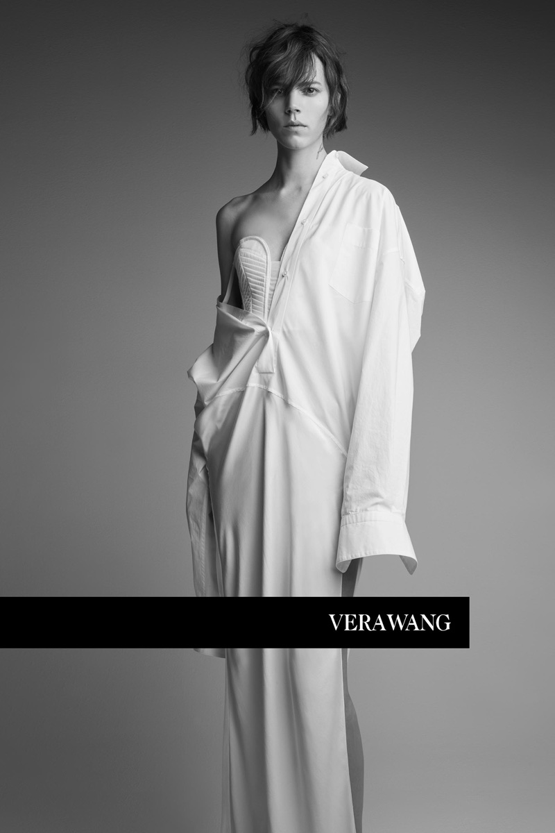 An image from Vera Wang's spring 2018 advertising campaign