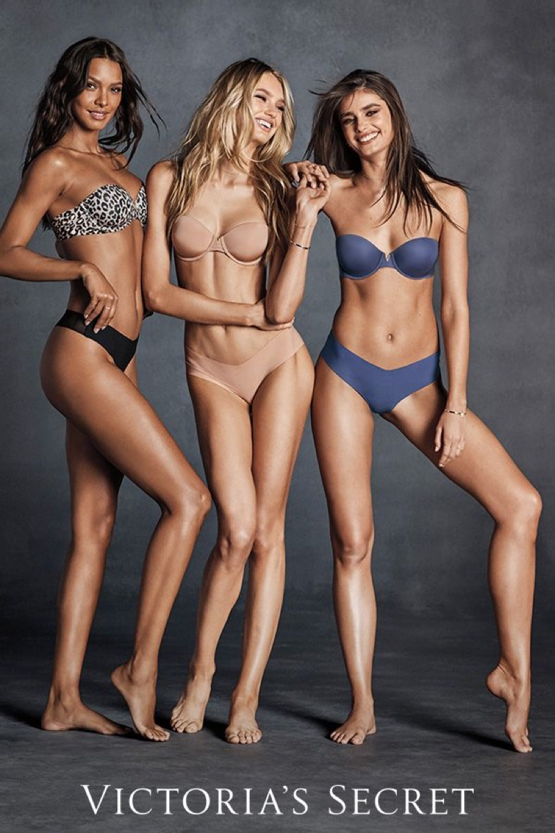 Lais Ribeiro, Romee Strijd and Taylor Hill are all smiles in Victoria's Secret Sexy Illusions 2018 campaign