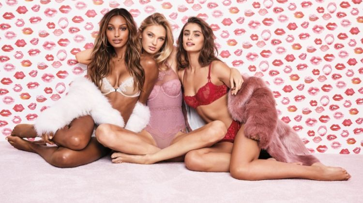 Jasmine Tookes, Romee Strijd and Taylor Hill front Victoria's Secret Valentine's Day 2018 campaign