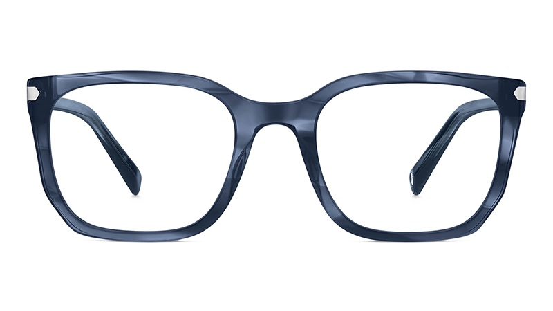 Warby Parker Alcott Glasses in Chesapeake Blue with Silver $145