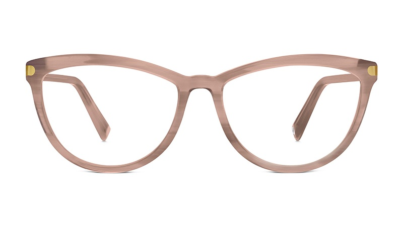 Warby Parker Louise Small Glasses in Pale Rose Horn $145