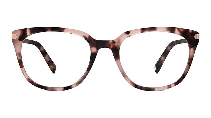 Warby Parker Maeve Glasses in Blush Tortoise $145