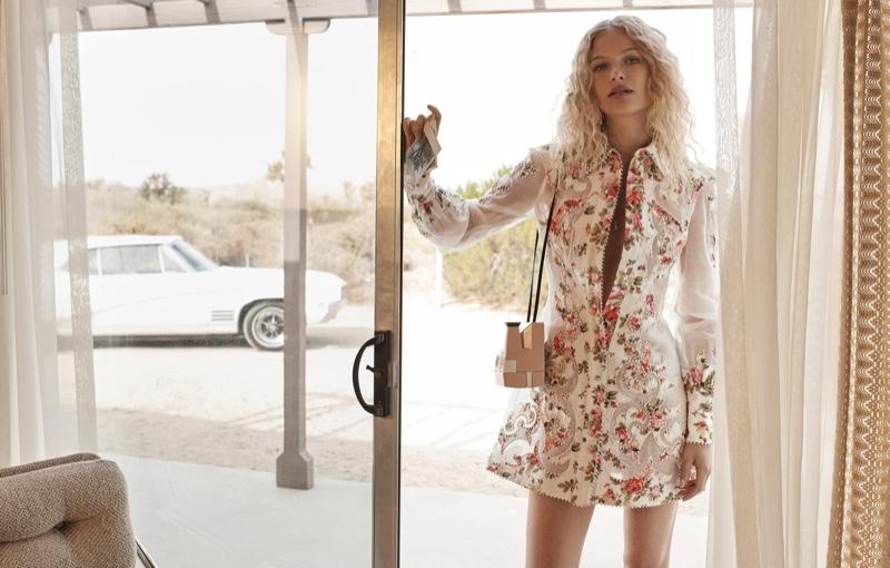 Frederikke Sofie stars in Zimmermann's spring-summer 2018 campaign