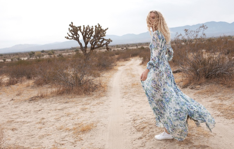 Zimmermann features Whitewave Shirred dress in spring 2018 campaign