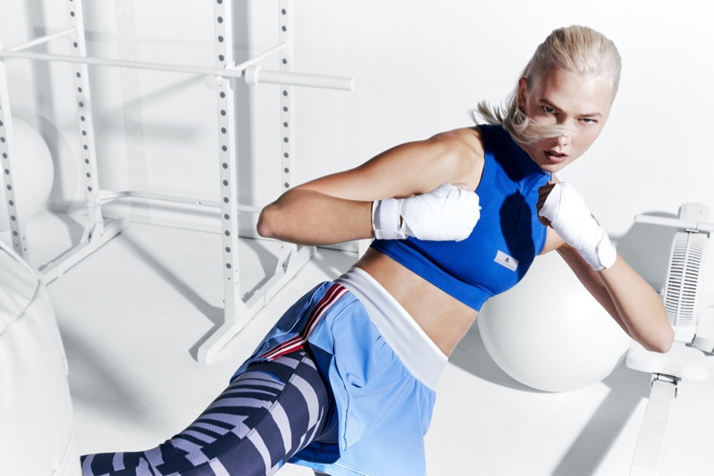 Karlie Kloss appears in adidas by Stella McCartney's spring 2018 campaign