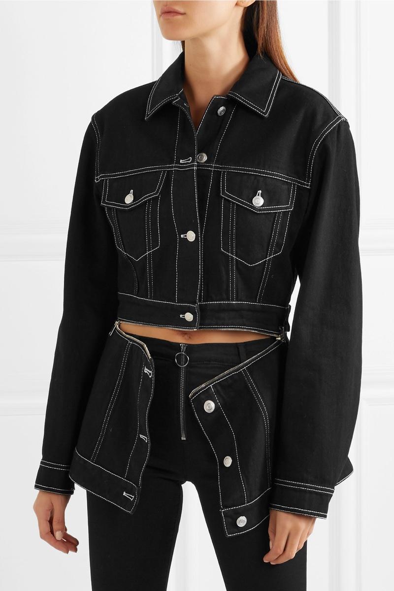Alexander McQueen Zip Detailed Denim Jacket $1,575