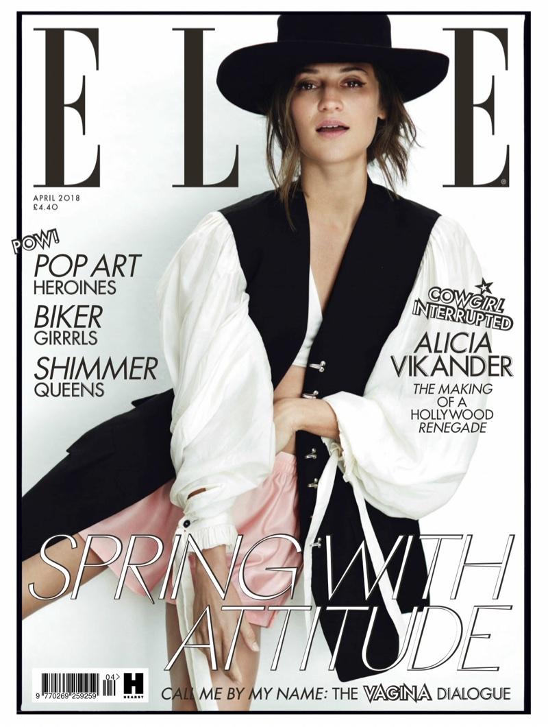 Alicia Vikander on ELLE UK April 2018 Cover