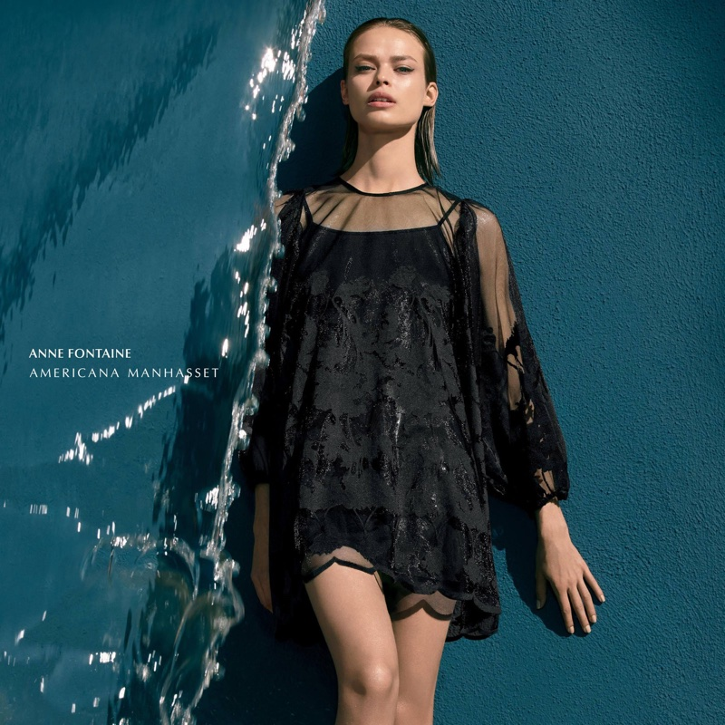 Americana Manhasset spotlights Anne Fontaine dress in spring-summer 2018 campaign