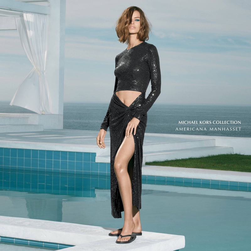 Americana Manhasset spotlights Michael Kors Collection dress in spring 2018 campaign