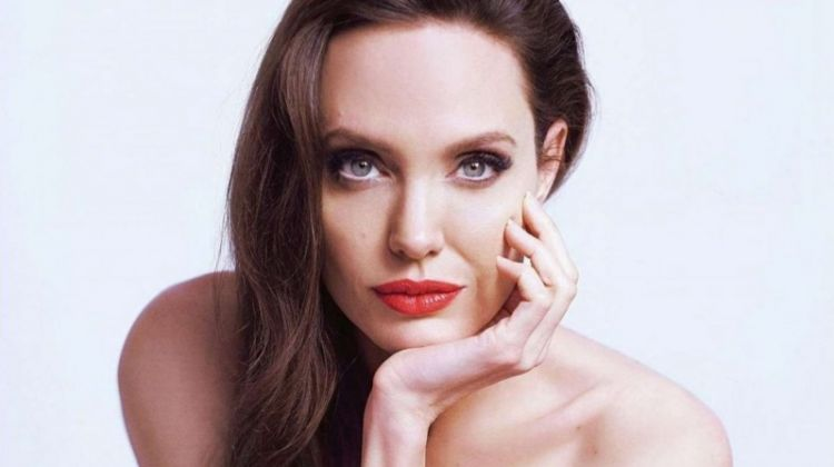 Angelina Jolie stuns in Guerlain beauty shoot. Photo: Mathieu Cesar
