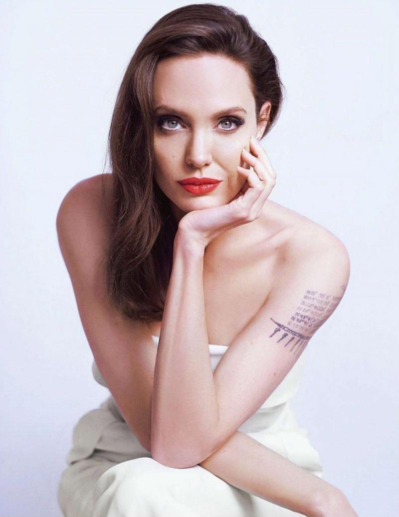 Angelina Jolie stuns in Guerlain beauty shoot. Photo: Mathieu Cesar