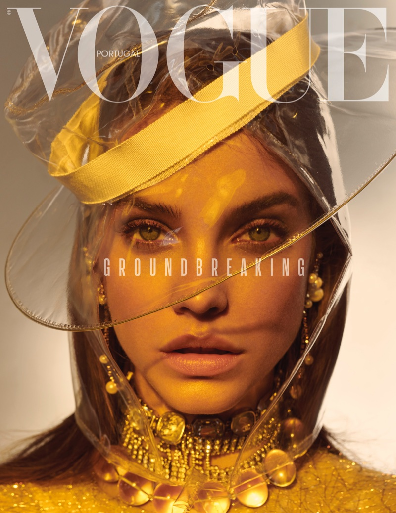 Barbara Palvin Models Super Luxe Looks for Vogue Portugal