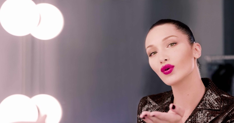 BEHIND THE SCENES: Bella Hadid blows a kiss on Dior Makeup shoot