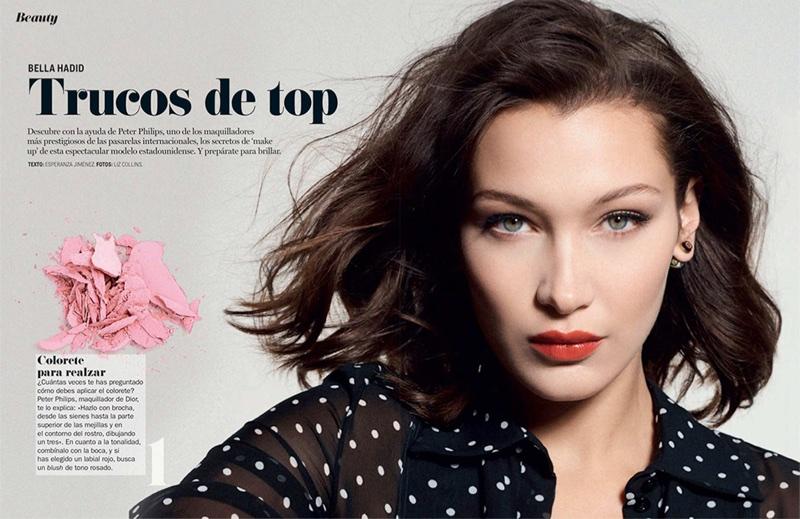89421715473 Bella Hadid Wears The New Makeup Trends For Cosmopolitan Spain