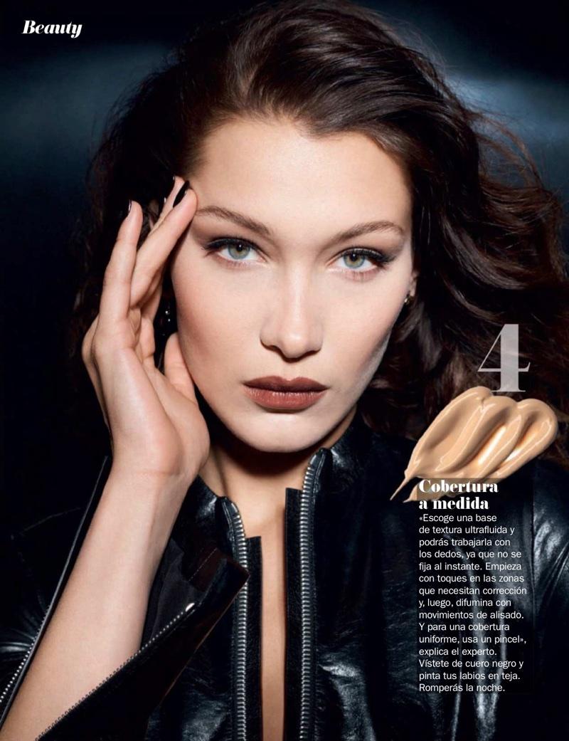 Bella Hadid Wears the New Makeup Trends for Cosmopolitan Spain