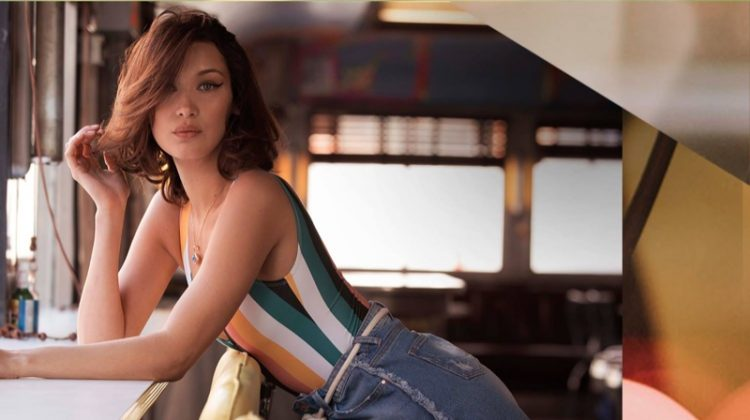 Bella Hadid Models Bold Stripes for Penshoppe's Spring 2018 Campaign