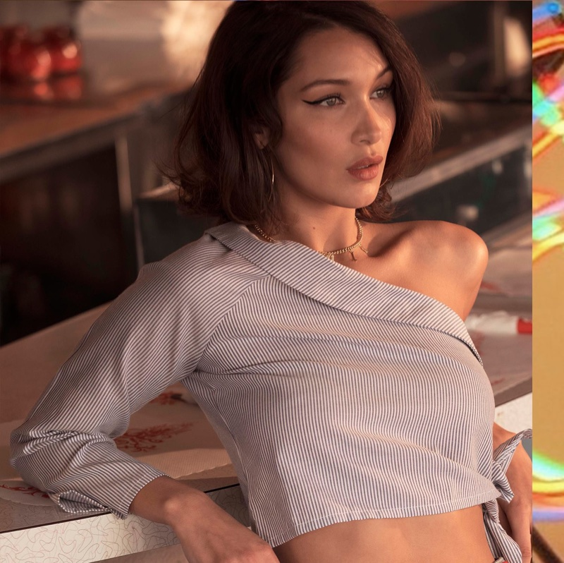 An image from Penshoppe's spring 2018 advertising campaign with Bella Hadid