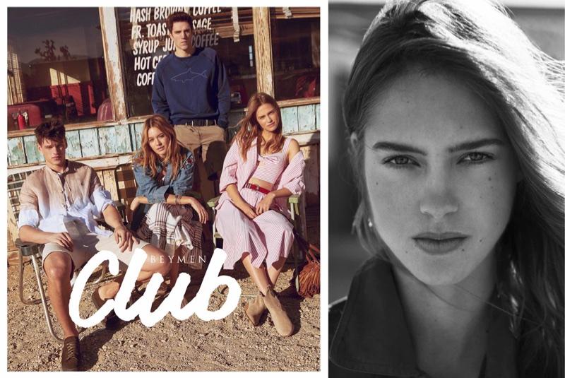 Filip Hrivnak, Julia Jamin, Camille Rowe and Josh Beech appear in Beymen Club's spring-summer 2018 campaign