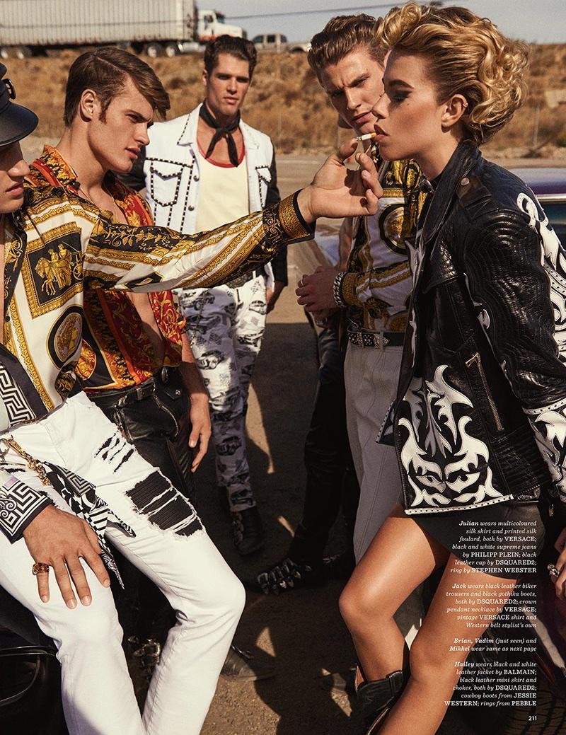 Hailey Clauson Models Biker Glam Fashions for GQ Style UK