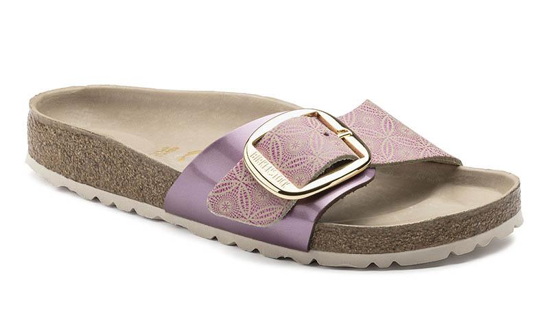 Birkenstock Madrid Big Buckle Sandal in Ceramic Pattern Rose $130
