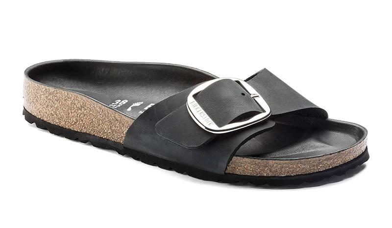 d53cc12a5a86 Birkenstock Madrid Big Buckle Sandal in Oiled Leather Black  130