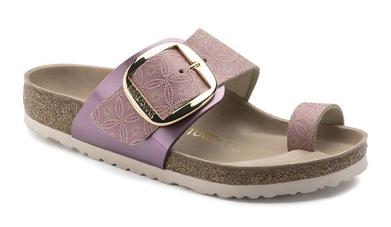 Birkenstock Miramar Big Buckle Sandal in Ceramic Pattern Rose $150
