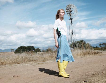 Julia Nobis stars in CK Calvin Klein's spring-summer 2018 campaign