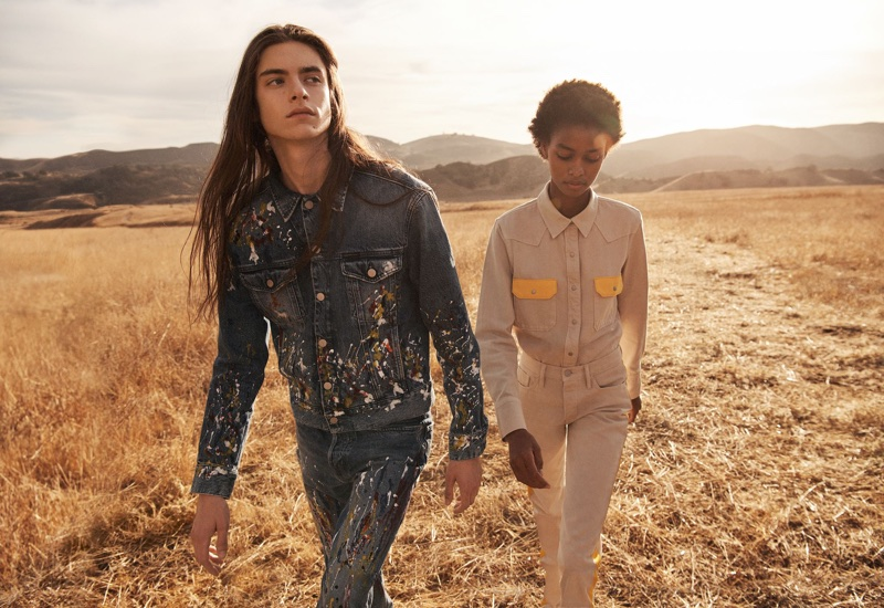 Dylan Christensen and Blesnya Minher front Calvin Klein Jeans' spring-summer 2018 campaign