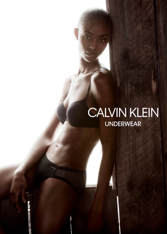 Alicia Burke appears in Calvin Klein Underwear's spring-summer 2018 campaign