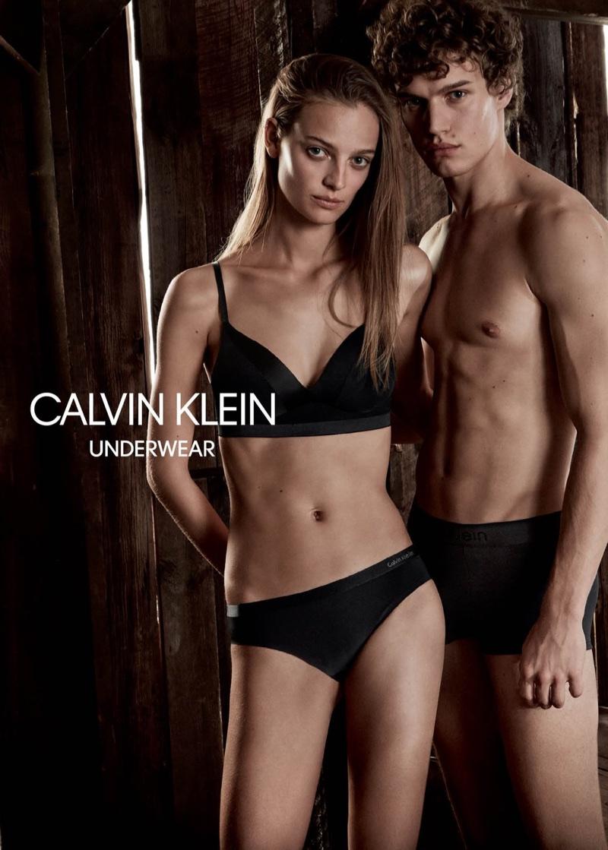 Ine Neefs and Timo Baumann star in Calvin Klein Underwear's spring-summer 2018 campaign