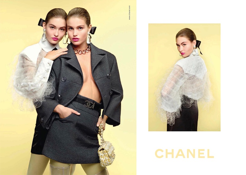 An image from Chanel's spring 2018 advertising campaign