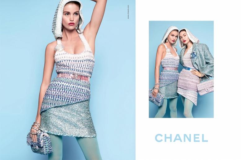 Luna Bijl and Grace Elizabeth front Chanel's spring-summer 2018 campaign