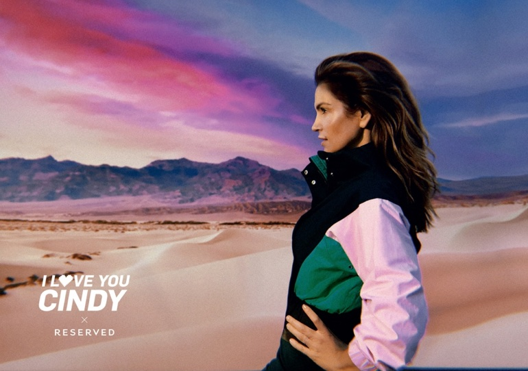 Supermodel Cindy Crawford appears in Reserved's spring-summer 2018 campaign