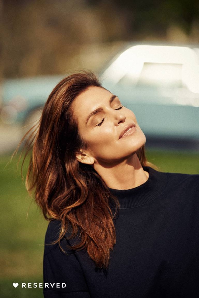 Supermodel Cindy Crawford fronts Reserved's spring-summer 2018 campaign