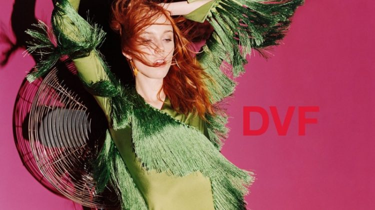 Kiki Willems, Imaan Hammam Make Moves in DVF's Spring 2018 Campaign