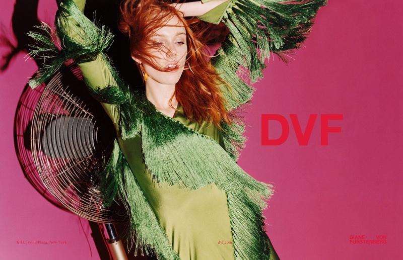 Kiki Willems stars in Diane von Furstenberg's spring-summer 2018 campaign