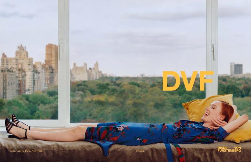 Kiki Willems poses in New York City for Diane von Furstenberg's spring-summer 2018 campaign