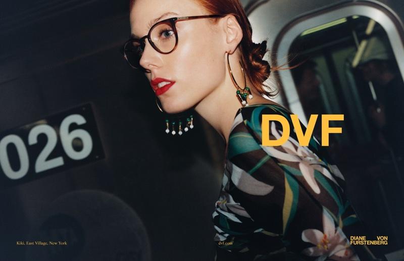 Diane von Furstenberg showcases eyewear in spring-summer 2018 campaign
