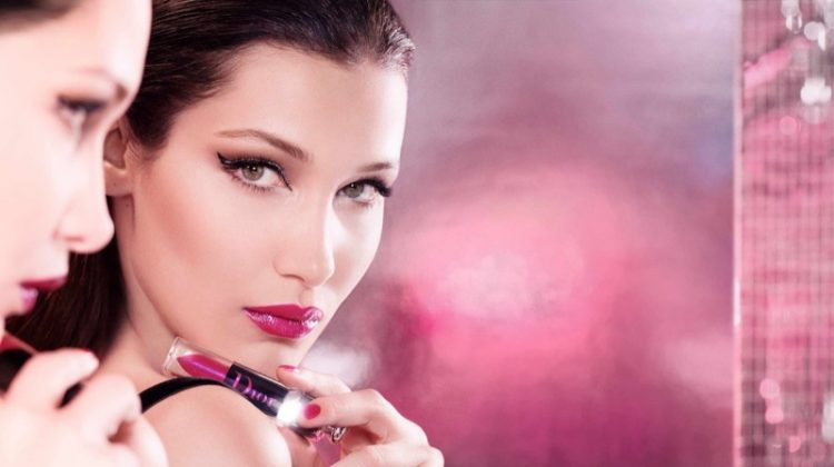 Bella Hadid stars in Dior Addict Lip Lacquer Plump campaign
