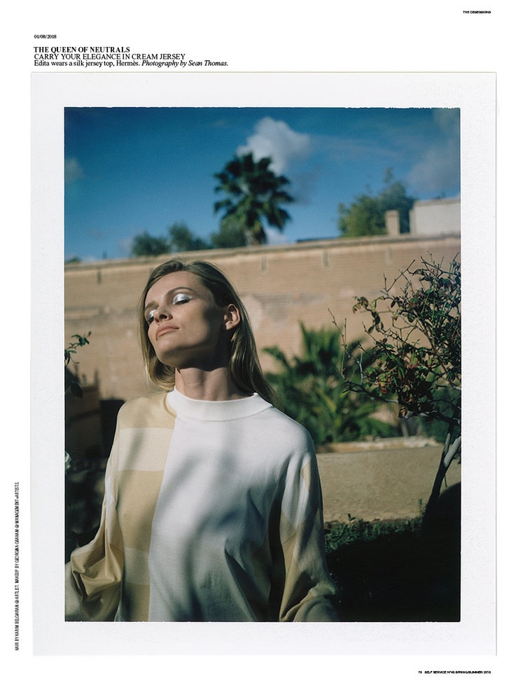 Edita Vilkeviciute Takes On the Spring Collections for Self Service