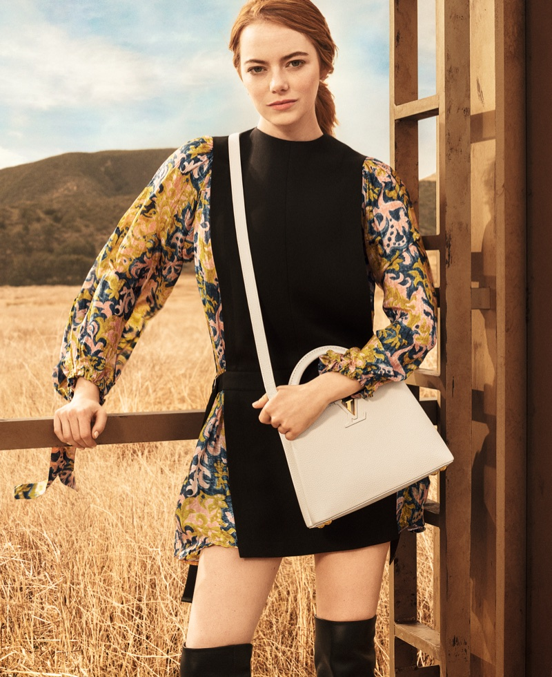 Emma Stone poses in California desert for Louis Vuitton Spirit of Travel 2018 campaign