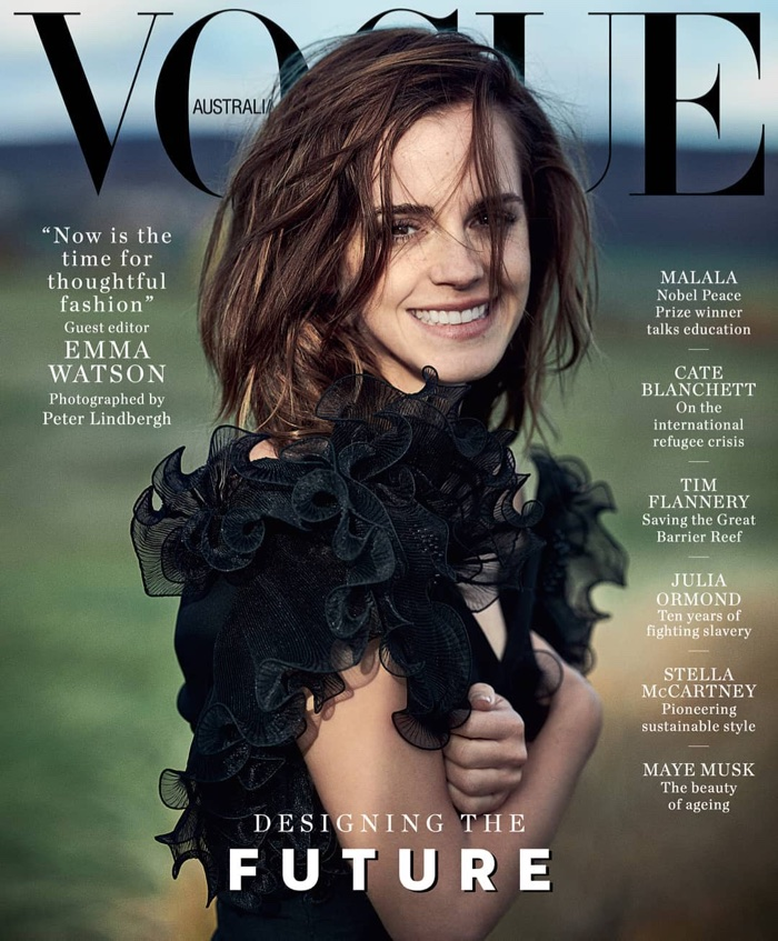 Emma Watson on Vogue Australia March 2018 Cover
