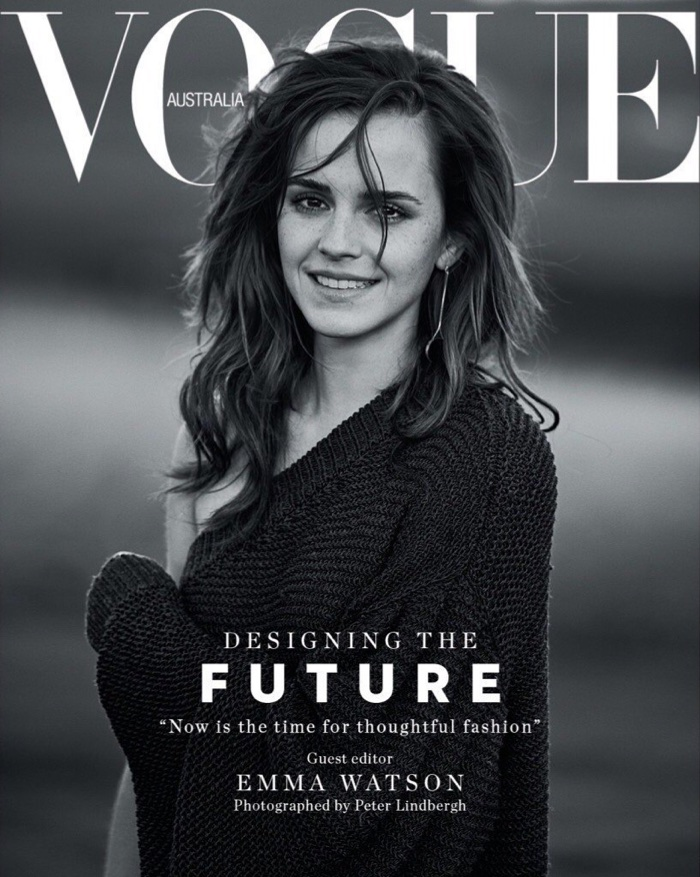 Actress emma watson on vogue australia march 2018 cover