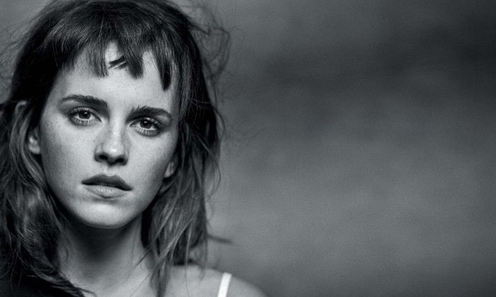 Getting her closeup, Emma Watson wears hairstyle with mini bangs